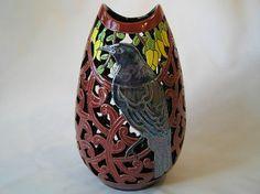 Tui Korowai vase New Zealand Art, Maori Art, Arts And Crafts, Clay, Vase, Ceramics, Dojo, Kiwi, My Style