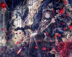 Image in anime collection by umarekawari on We Heart It Kawaii Anime Girl, Anime Art Girl, Manga Girl, Gothic Anime Girl, Anime Girls, Anime Devil, Anime Angel, Chica Anime Manga, Anime Chibi