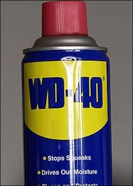 WD-40 stops silver from tarnishing; removes car tar, grime and bugs; restores chalkboards; loosens zippers; cleans stainless steel sinks and BBQ grill; hides scratches in ceramic and marble floors; lubricates scissors, noisy door hinges & window tracks; cleans leather dashboards and vinyl bumpers; lubricates squeaks in electric fans, bike wheel sprockets & fan belts on washers and dryers. Keeps rust from forming on saws and blades. Removes traces of duct tape & crayons from walls.