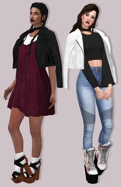 LumySims: Leather Jacket  Accessory • Sims 4 Downloads