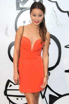 The Ani Lee Taryn Dress in Orange, as seen on Jamie Chung