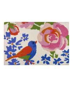 Love this Stop & Smell the Roses Rug on #zulily! #zulilyfinds