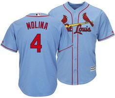 7ccbbfad2b0bc Majestic Men Yadier Molina St. Louis Cardinals Player Replica Cool Base  Jersey Paul Goldschmidt