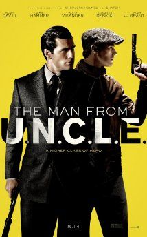 The Man from U.N.C.L.E (2015), starring Henry Cavill, Alicia Vikander, Armie Hammer, Hugh Grant, Jared Harris. Directed by Guy Ritchie.