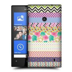 Head Case Hearts And Flowers Washi Tape Hard Back Case Cover For Nokia Lumia 520: Amazon.co.uk: Electronics