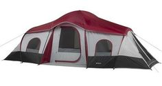 Prepare for the next camping adventure with this Family Tent. You can fit 10 people inside this family camping tent, and its roll-back fly makes it easy to get in or out. Take this Family Tent with you on your next camping trip. Auto Camping, Tent Camping, Camping Gear, Outdoor Camping, Camping Site, Glamping, Diy Camping, Camping Equipment, Outdoor Fun