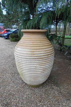 Pair Of Cretan Terracotta Pots, Planter, Urn, Garden, Patio, Container - Beehive