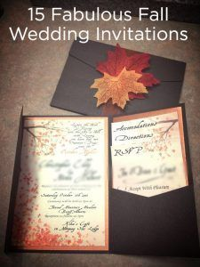 Fall Is Just 6 Short Months Away Checkout These Lovely Wedding Invitations