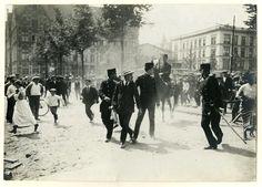 Tramstaking op 't Plein, 1914.