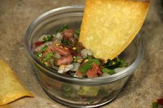 Homemade Pico de Gallo with Lime Chips - perfect for an easy Cinco de Mayo snack!
