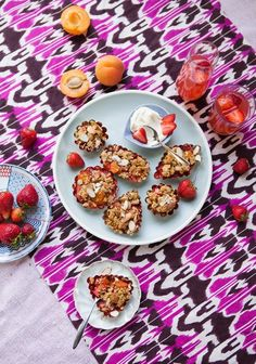 Recipe: Strawberry, Apricot & Almond Crumble
