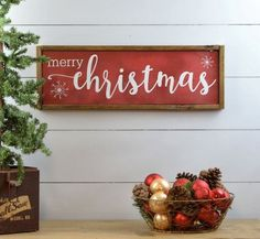 Merry Christmas Sign, Christmas Decorations Farmhouse, Rustic Christmas Decor, Wooden Plaque, Red and White Christmas Primitive Holiday Sign - Vincent Bennett Merry Christmas Frame, Christmas Wooden Signs, Holiday Signs, Rustic Christmas, Christmas Home, Christmas Gifts, Christmas Movies, Homemade Christmas, White Christmas