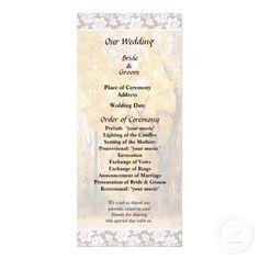 Autumn Path Wedding Program by Susan Savad -- Autumn wedding program that you can customized yourself.  #wedding  #weddingprogram #weddingprograms #gettingmarried #customize #autumn #fall   $0.55  per card   BULK PRICING AVAILABLE!
