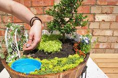 Step 11a - Adding gravel to make the gardenpath