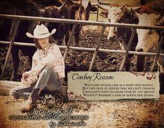 Cowboy Love Quotes | Cowboy Reason: Pair of Boots & Jeans 11x14 Art Print by Shawnda Eva