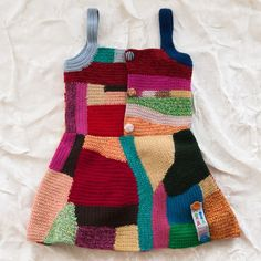 teenytini patchwork pinafore - dresses - baby girl | Thumbe Line