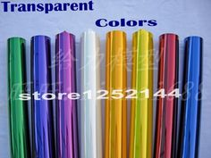 5Meters/Lot Tranparent Colors Hot Shrink Covering Film For RC Airplane Models DIY High Quality Factory Price Free Shipping