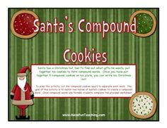holiday activity, winter activity, vocabulary activity, compound words activity
