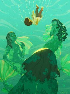 """c-sushi: """"The Ocean's Daughter """" More pics at the link. Mermaid Drawings, Mermaid Art, Art Drawings, Character Inspiration, Character Art, Character Design, Writing Inspiration, Mermaid Pictures, Mermaids And Mermen"""