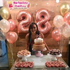 25th Birthday Ideas For Her, 25th Birthday Parties, Birthday Party For Teens, Pink Birthday, Birthday Balloons, Birthday Celebration, Birthday Decorations At Home, Wedding Balloon Decorations, Birthday Party Decorations