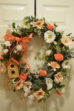 Spring wreath Summer wreath rustic wreath Easter by WreathCreated, $129.00