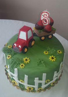 Dort s traktorem aknel Birthday Cake, Sweets, Desserts, Food, Sweet Pastries, Tailgate Desserts, Birthday Cakes, Deserts, Goodies