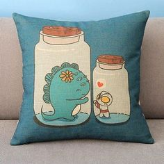 Altman and Small Monster's Love Pillow Case Decor Cushion Cover Square 18