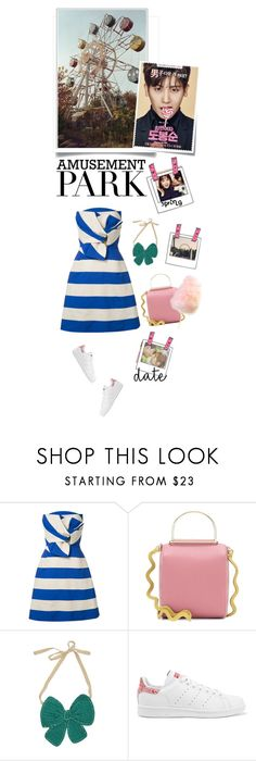 """""""Cuteness"""" by iriadna ❤ liked on Polyvore featuring Delpozo, Roksanda, Lowie, adidas Originals, Post-It, amusementpark and 60secondstyle"""