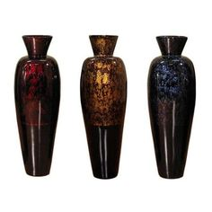 Tall Lacquer 36-inch Bamboo Vase and Branches