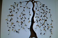 Willow tree painted on wood.