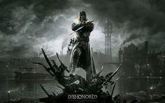 DISHONORED warrior fantasy dark skull h