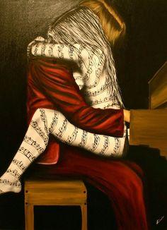 A Música -  Pinturas de Lisete Alcalde   O pintor que toca o coração