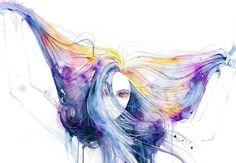 Imagem de art, girl, and hair