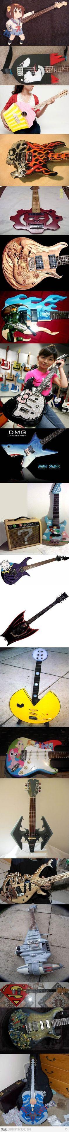 Érase una vez un conjunto de guitarras que me gustaría tener en mis manos!.. WAO
