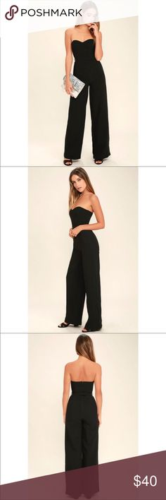 Strapless Jumpsuit Black Medium Strapless Black Jumpsuit, floor length, size medium. Brand new with tags. Open to negotiations Dresses
