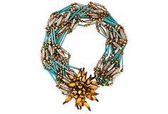 Tony Duquette Jewelry  1950s Costume Jewelry Necklace