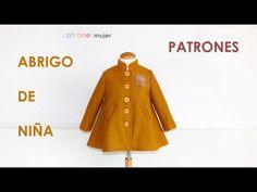 Como hacer un abrigo mostaza: Patrones de niña. - YouTube