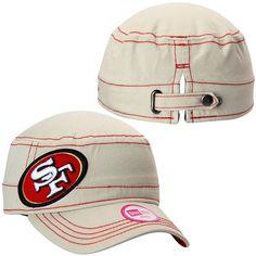 c1b3ac2de04 San Francisco 49ers New Era Women s Fashion Chic Cadet Adjustable Hat -  Stone