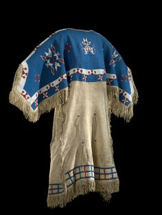 National Museum of the American Indian :  Culture/People:probably Oglala Lakota (Oglala Sioux) (attributed) Object name:Woman's dress Date created:circa 1880 Place:Pine Ridge Reservation; Jackson County, Shannon County; South Dakota; USA