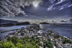 Alesund, Mountains, Architecture, Water, Travel, Outdoor, Arquitetura, Gripe Water, Outdoors