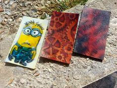 Airbrushed business cards