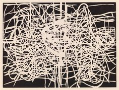 Terry Winters, born New York, NY1949 Rhizome 1998, linoleum cut on paper