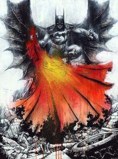 Batman (and Superman) by Jonathan Wayshak