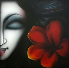 Pradeesh K. Blossom Acrylic on Canvas Lot no: 50799 Size(inches): Indian Artwork, Indian Art Paintings, Modern Art Paintings, Colorful Paintings, Beautiful Paintings, Oil Paintings, Abstract Painting Techniques, Dot Art Painting, Acrylic Painting Canvas