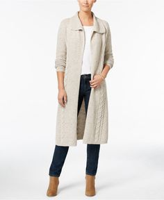 Style & Co. Pointelle-Knit Duster Cardigan, Only at Macy's | macys ...