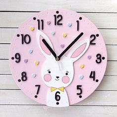 Clock For Kids, Kids Clocks, Letter A Crafts, Craft Letters, Laser Art, Embroidery Kits, Diy Bedroom Decor, Home Decor, Wood Design