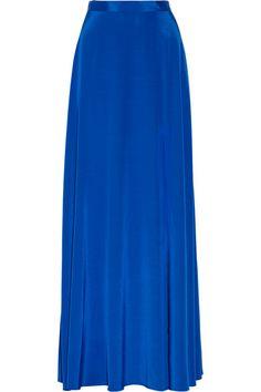 Stretch-silk crepe de chine maxi skirt <3