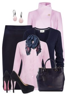 """Navy Blue and Pink Contest Set 1"" by penny-martin ❤ liked on Polyvore featuring Ted Baker, Paul Smith, Abercrombie & Fitch, Emporio Armani, Paris Hilton and Pieces"