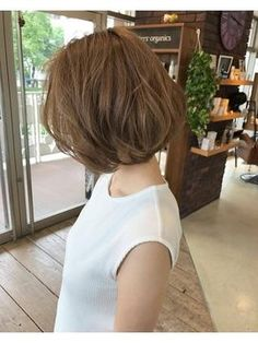 Pin on パーマ Short Wavey Hair, Asian Short Hair, Cute Hairstyles For Short Hair, Permed Hairstyles, Short Perm, Easy Hair Cuts, Medium Hair Cuts, Medium Hair Styles, Curly Hair Styles