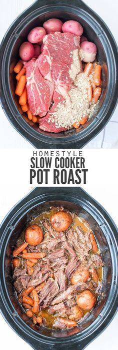 My family loves this easy slow cooker pot roast recipe. Just dump the ingredients in the pot, hit a button and a healthy dinner ready is ready when you are. :: http://DontWastetheCrumbs.com